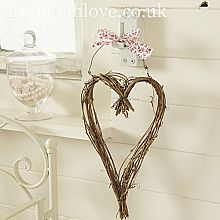 Twiggy Heart with Ribbon