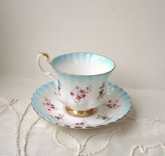 Royal Albert Teacup and saucer bone china made in by JimmyVintage, $16.00