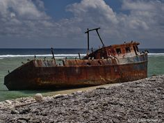Shipwreck on Clipperton Island.  Photo by divewizard on Flickr.
