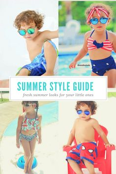 Stylish summer fashion for girls and boys. Kid's apparel for every event.