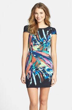 Maia Open Back Splash Print Crêpe de Chine Dress available at (no longer available)  #Nordstrom