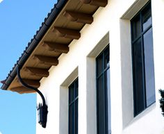 9 Easy Clever Ideas: Shed Roofing Rafters roofing structure timber.Glass Roofing Garage green roofing shed.Shed Roofing Repair. Spanish House, Spanish Style, Spanish Colonial, Corbels Exterior, Roof Eaves, Wooden Corbels, Fibreglass Roof, Pergola Canopy, Pergola Cover