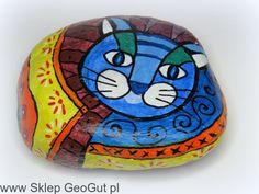 Kot na kamieniu * obraz na kamieniu (1) Sklep GeoGut.pl
