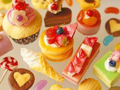 Peach CakeCrepe Eclair of Sweets Deco Parts Kawaii by LeSurfDesign Candy Phone Cases, Bingsu, Surf Design, Peach Cake, Dessert Bread, Eclairs, Air Dry Clay, Miniature Food, Sweet Desserts