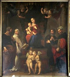 9251b10f9ee4 A perfect copy of Raphael s The Madonna Del Baldacchino Art History, Madonna