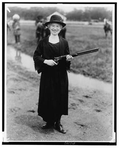 Annie Oakley, with gun Buffalo Bill gave her