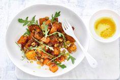 Salade met kikkererwten en pompoen van Ella Mills - Recept - Allerhande