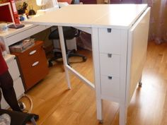 Sewing table ikea hack offices Ideas for 2019 Table Ikea, Ikea Desk, Diy Desk, Diy Table, Sewing Room Storage, Sewing Room Organization, Craft Storage, Coin Couture, Ikea Office Hack
