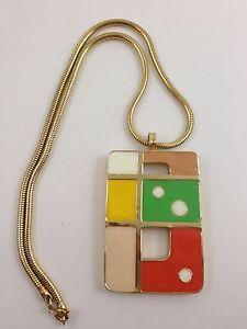 "Vintage 1970'S POP ART Enamel AND Metal Pendant ""B"" Monogram | eBay"