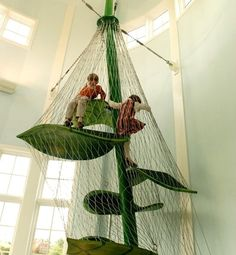 A climbable beanstalk. | 32 Things That Belong In Your Child's Dream Room