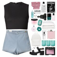 """lucluc 16"" by randomn3ss ❤ liked on Polyvore featuring David Koma, NARS Cosmetics, Marc Jacobs, Selfridges, Topshop, Booty Parlor, Christy, Jamie Young, Bliss and Clinique"