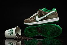 "Nike SB Dunk Low Premium ""Starbucks"" - Hate their coffee but these are fresh..."