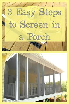 Do it yourself screened porch todays homeowner windows and doors 3 easy steps to screen in a porch solutioingenieria Images