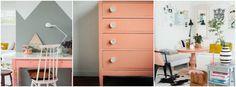 Peach combinado con gris. Preciosas ideas e inspiración. chalk paint peach
