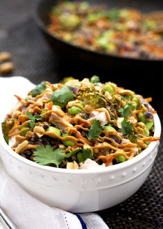 One Pot Thai Quinoa Bowl Chicken and Spicy Peanut Sauce