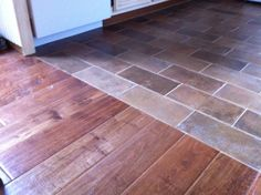 flooring transition from tile to wood
