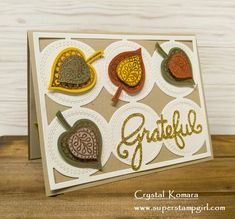 Lighthearted Leaves, Leaflet framelits; Gina Marie Stitched Circles Plate die