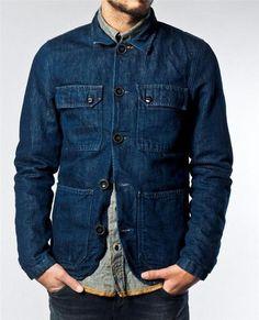 Ricco Dark Hemp Indigo - Nudie Jeans Co Online Shop Stylish Mens Fashion, Denim Fashion, Fashion Outfits, Denim Jacket Men, Shirt Jacket, Leather Jacket, Love Jeans, Jeans Style, Nudie Jeans