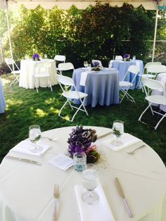 Outdoor reception| Home wedding| Snuffin's Catering| Tacoma| Gig Harbor| Catering|