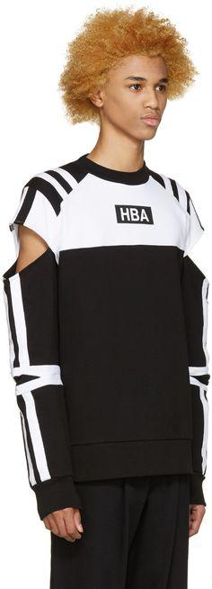 Hood by Air - Black & White Logo Fracture T-Shirt