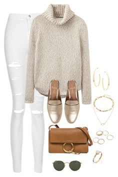 """""""Untitled #4201"""" by magsmccray on Polyvore featuring Topshop, Joules, Linea Paolo, Chloé, Ray-Ban and Lana"""