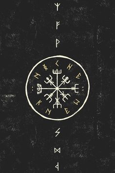 "kahankiller: "" Vegvísir, also known as the Norse Compass. It's magick keeps you from getting lost, and protects you on your travel"
