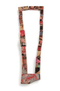 Just let it out _ 01 Necklace, Beech Wood, 2012 60cm x 13cm x 3.3cm by Anna Helena Van De Pol de Deus
