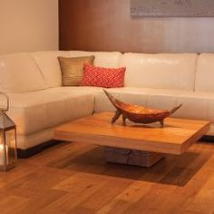 Keep It Low Square Oak Coffee Table Modern Solid