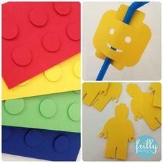 #personalised #lego #invite #straw #paper #legoman