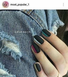 If You Love To Wear Black, Then These 66 Stunning Black Nail Ideas Are For You - Millions Grace blacknails blacknaildesigns nailsdesigns nailart nails nailartdesigns nailcolors naildesigns Nail Art Designs, Black Nail Designs, Beautiful Nail Designs, Nails Design, Stylish Nails, Trendy Nails, Cute Nails, My Nails, Shiny Nails