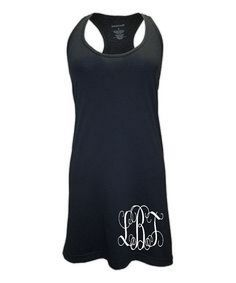 c7b71552528cb Monogrammed Racer Back Swim Suit Cover Up. Bathing suit cover up. Tank Top  Dress