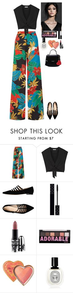 """""""Outfit"""" by eliza-redkina ❤ liked on Polyvore featuring Alice + Olivia, Carlo Pazolini, Gucci, MAC Cosmetics, NYX, Diptyque, Love Moschino, StreetStyle, outfit and like"""