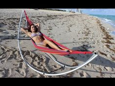 Folding Beach Hammock. Portable Travel Hammock.