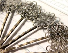 Filigree Hair Pins on Etsy    http://www.etsy.com/listing/86480608/bobby-pins-hair-pins-filigree-bobbies?ref=sr_gallery_9&ga_search_type=all&ga_includes%5B0%5D=tags&ga_search_query=filigree&ga_facet=