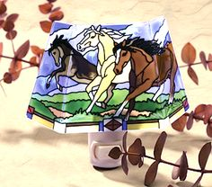 Three galloping horses on stained glass dimensional shaped night light. Paws4Claws donates to rescues that save abandoned & abused horses.