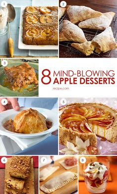 Tired of pie? Try these eight delicious apple desserts.