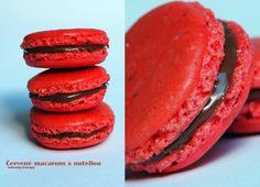 Laskominy od Maryny: Červené macarons s nutellou