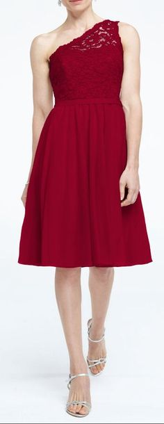Crimson bridesmaid dress