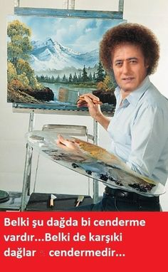Now let me clear your eyes between the incredible carpet sets of the great photographer u/Digiorno-Giovanna with this wonderful painting by Bob Ross Funny Happy, The Funny, Funny Shit, Hilarious, Bob Ross Youtube, The Joy Of Painting, He Is Alive, Public Television, Television Program