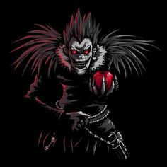 Tee shirt Ryuk, Dessin parodie de Death Note et du Shinigami - ı am anime Shinigami, Anime In, Manga Anime, Death Note Ryuk, Death Note Kira, Death Note Light, Light Yagami, Awesome Anime, Tokyo Ghoul