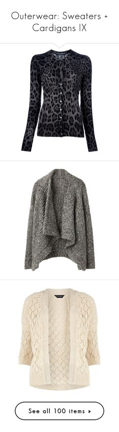 """""""Outerwear: Sweaters + Cardigans IX"""" by jay-to-the-kay ❤ liked on Polyvore featuring tops, cardigans, sweaters, shirts, outerwear, leopard shirt, wool cardigan, long sleeve crew neck shirts, wool long sleeve shirt and fitted long sleeve shirts"""