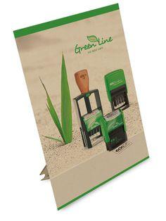 Carimbos Green Line Pensando em sustentabilidade, a linha verde da Colop é fabricada com 80% de materiais reciclados. Adote esta idéia!