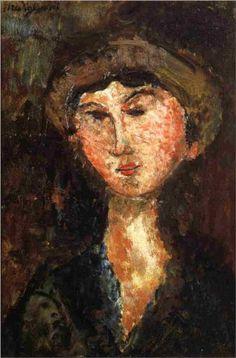 Amedeo Modigliani (1884 -1920) | Expressionism | Beatrice Hastings - 1914