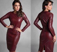 vestidos de couro inverno - Pesquisa Google
