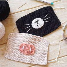 Crochet Mask, Crochet Faces, Crochet Girls, Crochet Beanie, Crochet Home, Love Crochet, Crochet Motif, Baby Blanket Crochet, Crochet For Kids