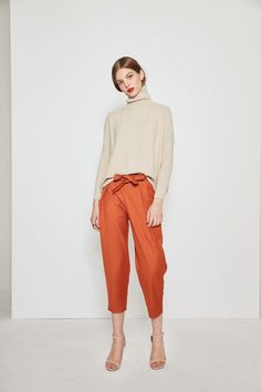 Belted Casual Pants PA0521