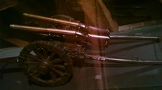 Model of field cannon with two rampart Matchlock Guns. Bohemia, 1650.