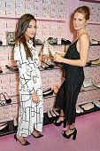 Millie Mackintosh and Roxie Nafousi attend the launch of the Pretty Ballerinas SS15 collection hosted by the face of the campaign Zara Martin at their Covent Garden store on February 4, 2015 in London, England.