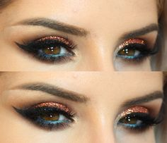 Tutorial – maquiagem linda com glitter Coralina