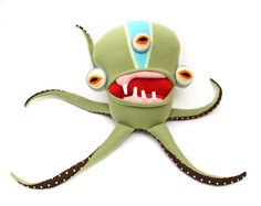 Coriander threeeyed Big Squidious Cotton Monster by cottonmonster
